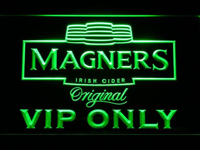 Magners VIP Only LED Neon Sign - Green - SafeSpecial