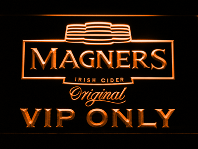 Magners VIP Only LED Neon Sign - Orange - SafeSpecial