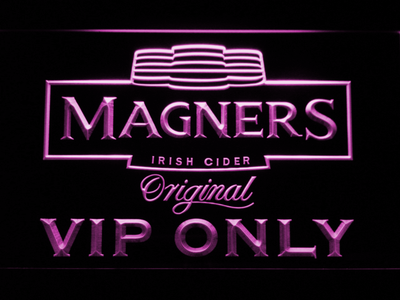 Magners VIP Only LED Neon Sign - Purple - SafeSpecial