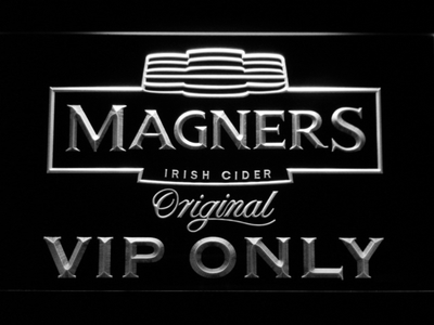 Magners VIP Only LED Neon Sign - White - SafeSpecial