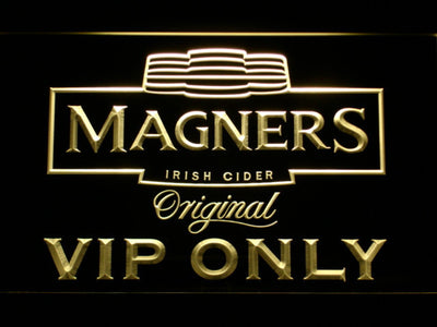 Magners VIP Only LED Neon Sign - Yellow - SafeSpecial
