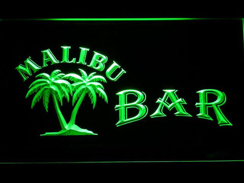 Image of Malibu Bar LED Neon Sign - Green - SafeSpecial