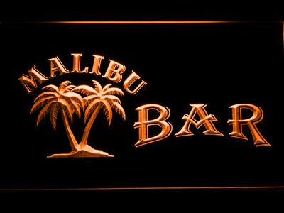Malibu Bar LED Neon Sign - Orange - SafeSpecial