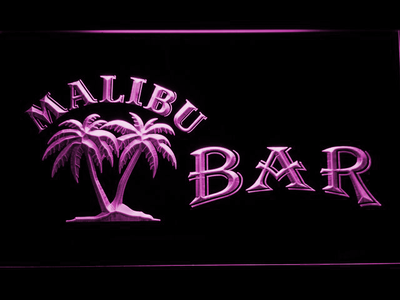 Malibu Bar LED Neon Sign - Purple - SafeSpecial