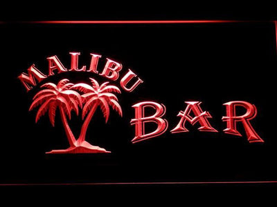 Malibu Bar LED Neon Sign - Red - SafeSpecial