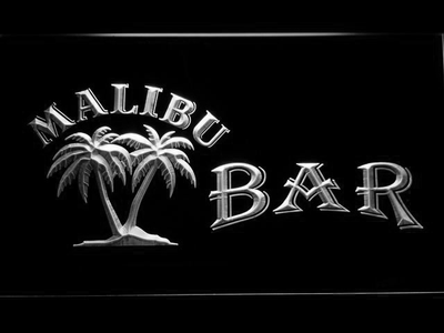 Malibu Bar LED Neon Sign - White - SafeSpecial