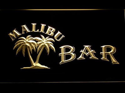 Malibu Bar LED Neon Sign - Yellow - SafeSpecial