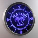 Malibu LED Neon Wall Clock - Blue - SafeSpecial