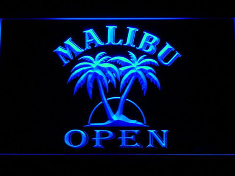 Image of Malibu Open LED Neon Sign - Blue - SafeSpecial