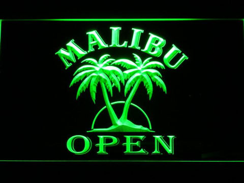 Image of Malibu Open LED Neon Sign - Green - SafeSpecial
