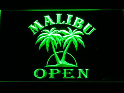 Malibu Open LED Neon Sign - Green - SafeSpecial