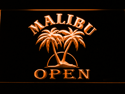 Image of Malibu Open LED Neon Sign - Orange - SafeSpecial