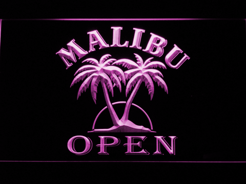 Image of Malibu Open LED Neon Sign - Purple - SafeSpecial