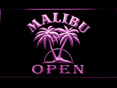 Malibu Open LED Neon Sign - Purple - SafeSpecial