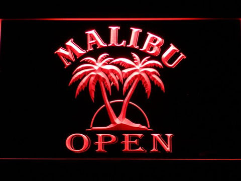Image of Malibu Open LED Neon Sign - Red - SafeSpecial