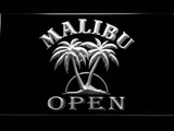 Malibu Open LED Neon Sign - White - SafeSpecial