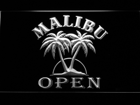 Image of Malibu Open LED Neon Sign - White - SafeSpecial