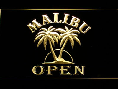 Malibu Open LED Neon Sign - Yellow - SafeSpecial