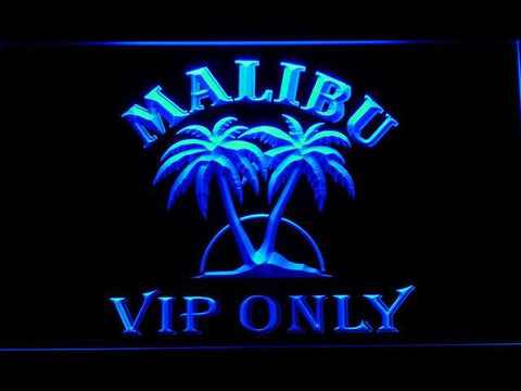 Malibu VIP Only LED Neon Sign - Blue - SafeSpecial