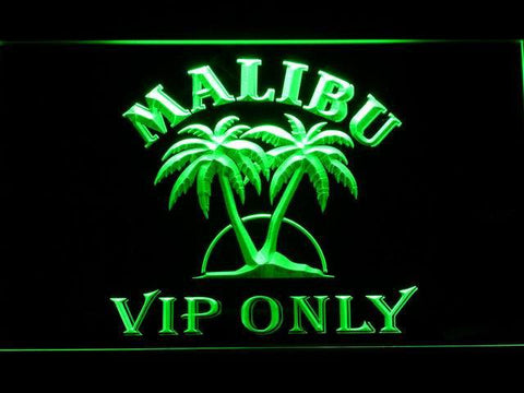 Malibu VIP Only LED Neon Sign - Green - SafeSpecial