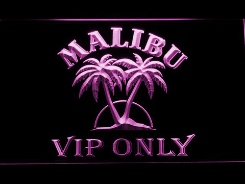 Malibu VIP Only LED Neon Sign - Purple - SafeSpecial