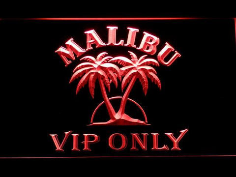 Malibu VIP Only LED Neon Sign - Red - SafeSpecial