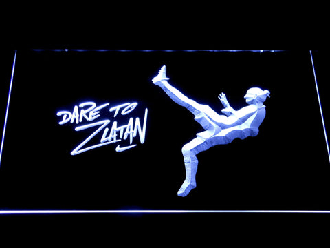 Image of Manchester United Football Club Dare To Zlatan LED Neon Sign - White - SafeSpecial