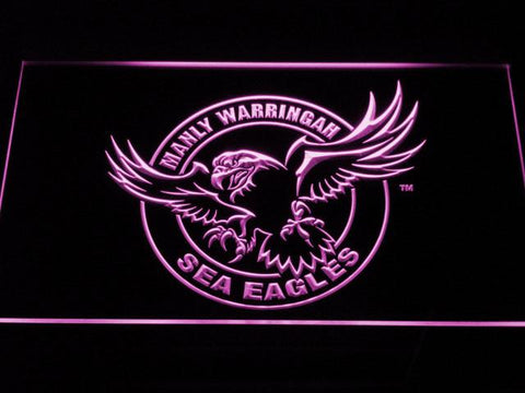 Image of Manly Warringah Sea Eagles LED Neon Sign - Purple - SafeSpecial