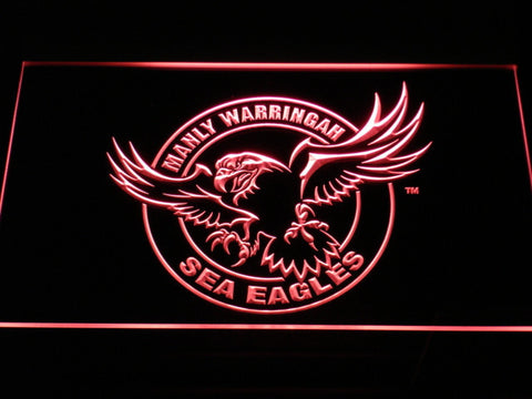Image of Manly Warringah Sea Eagles LED Neon Sign - Red - SafeSpecial