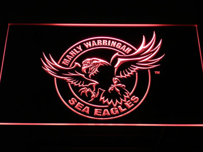 Manly Warringah Sea Eagles LED Neon Sign - Red - SafeSpecial