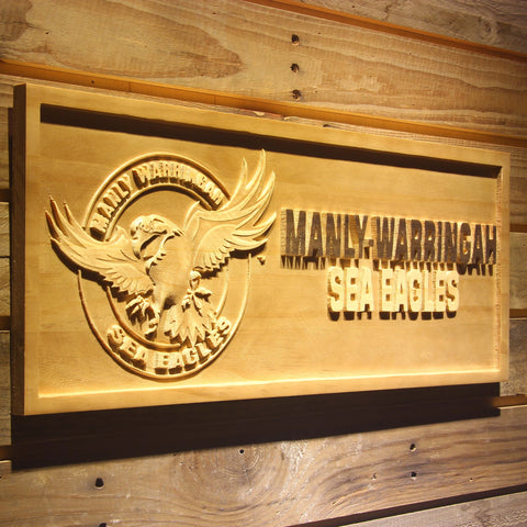 Manly-Warringah Sea Eagles Wooden Sign - - SafeSpecial