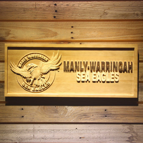 Manly-Warringah Sea Eagles Wooden Sign - Small - SafeSpecial