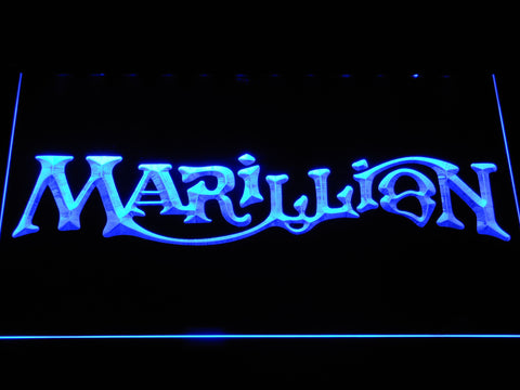 Marillion LED Neon Sign - Blue - SafeSpecial
