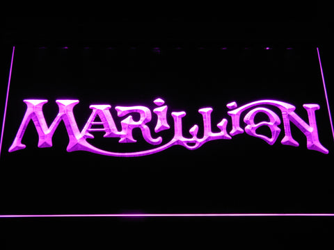 Marillion LED Neon Sign - Purple - SafeSpecial