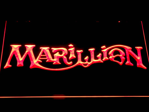 Marillion LED Neon Sign - Red - SafeSpecial
