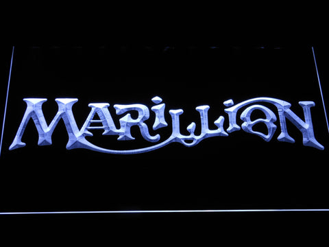 Marillion LED Neon Sign - White - SafeSpecial