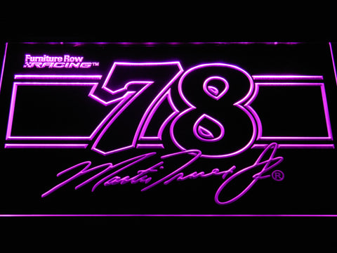 Image of Martin Truex Jr. 78 LED Neon Sign - Purple - SafeSpecial