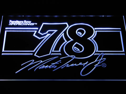 Image of Martin Truex Jr. 78 LED Neon Sign - White - SafeSpecial