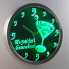 Martini Glass It's 5 o'clock Somewhere LED Neon Wall Clock - Green - SafeSpecial