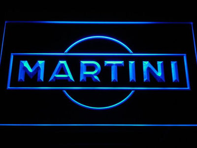 Martini LED Neon Sign - Blue - SafeSpecial
