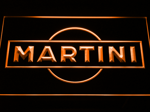 Image of Martini LED Neon Sign - Orange - SafeSpecial