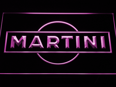 Martini LED Neon Sign - Purple - SafeSpecial