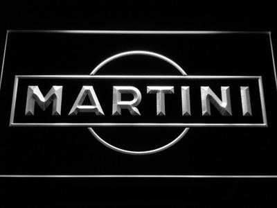 Martini LED Neon Sign - White - SafeSpecial