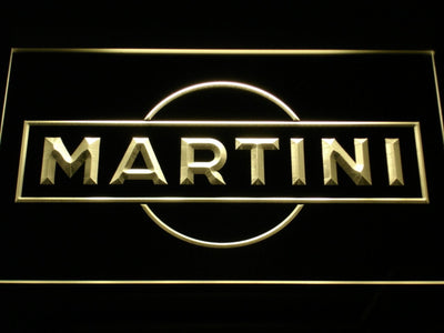 Martini LED Neon Sign - Yellow - SafeSpecial