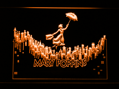 Image of Mary Poppins LED Neon Sign - Orange - SafeSpecial