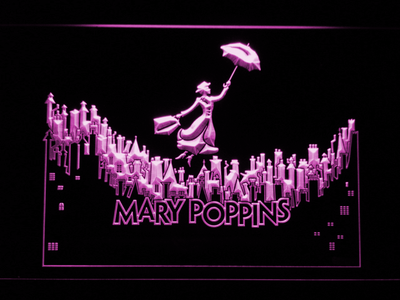 Mary Poppins LED Neon Sign - Purple - SafeSpecial