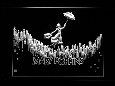 Image of Mary Poppins LED Neon Sign - White - SafeSpecial