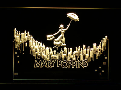 Mary Poppins LED Neon Sign - Yellow - SafeSpecial
