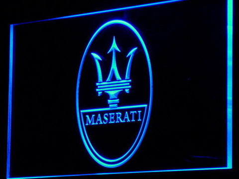 Image of Maserati LED Neon Sign - Blue - SafeSpecial