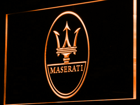 Image of Maserati LED Neon Sign - Orange - SafeSpecial